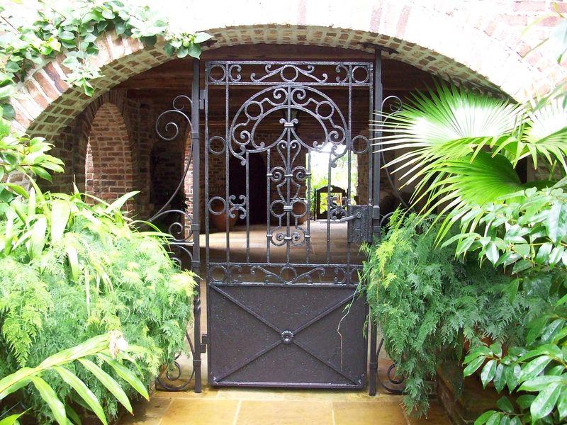 Iron gate close up